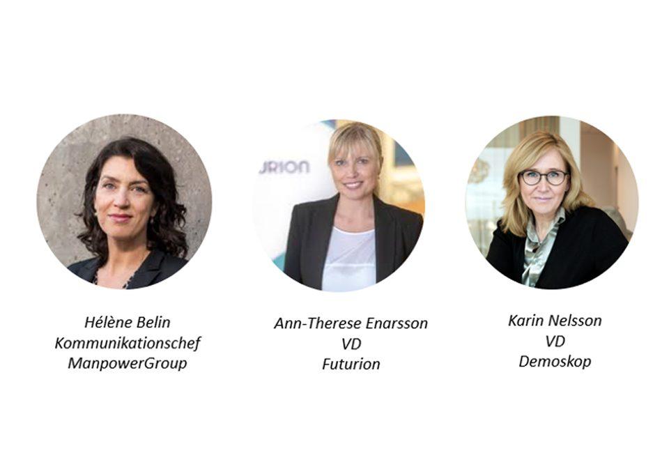 Helene Belin, Ann-Therese Enarsson, Karin Nelsson